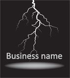 Logo con il fulmine Fotografia Stock