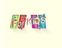 Logo con l'iscrizione per i bambini Fotografia Stock