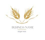 Logo con l'orecchio di grano Immagine Stock Libera da Diritti
