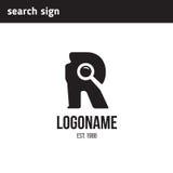 Logo con la lettera r Fotografia Stock
