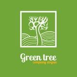 Logo con un albero Fotografie Stock Libere da Diritti