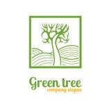 Logo con un albero Immagine Stock