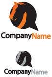 Logo con un cavallo Fotografia Stock