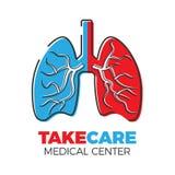 Logo concentrare polmonare Fotografia Stock