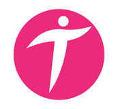 Logo Concept con una persona Fotografie Stock Libere da Diritti