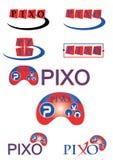 Logo Concept för lekar eller dobbel Royaltyfria Bilder