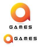 Logo Concept para los juegos o el juego Fotografía de archivo libre de regalías