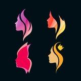 Logo Concept per i saloni e la stazione termale di bellezza illustrazione vettoriale