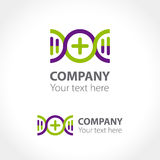Logo concept for pharmaceutical and medical companies. Vector illustration Royalty Free Stock Image