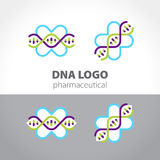 Logo concept for pharmaceutical and medical companies. Vector illustration Royalty Free Stock Images