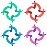 Logo Concept Vector de rotation de recouvrement Image libre de droits