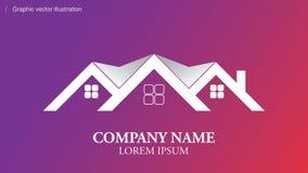 Logo conceptuel moderne utilisable dans tout domaine des affaires Photo stock