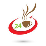Logo convenience store. A coffee cup royalty free illustration