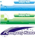 Logo. Corporative style Stock Image
