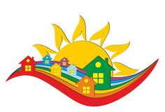Logo of the cottage settlement Stock Image