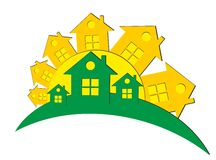 Logo of the cottage settlement Royalty Free Stock Image