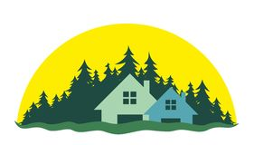 Logo of the cottage settlement Stock Photography