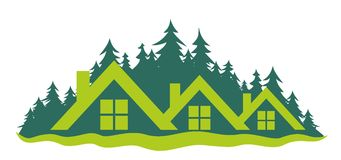 Logo of the cottage settlement Stock Photo