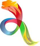 Logo courant coloré du guépard Images libres de droits