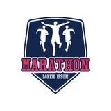 Logo courant de personnes/marathon, de sport et d'activité de course Image libre de droits