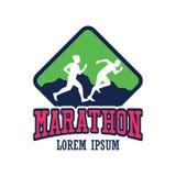 Logo courant de personnes/marathon, de sport et d'activité de course Photo libre de droits