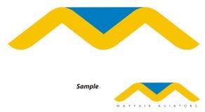 Logo - course/compagnie d'Avaition illustration de vecteur