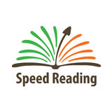 Logo for courses speed reading or words per minute test. Vector illustration on white background vector illustration