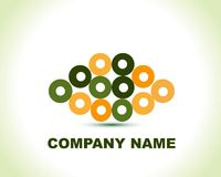 Logo créateur abstrait de cercle illustration de vecteur