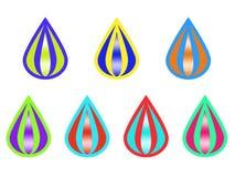 Logo créatif de baisses colorées illustration stock