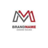 Logo créatif de la lettre M Photo stock