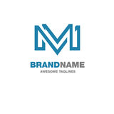 Logo créatif de la lettre M Photographie stock