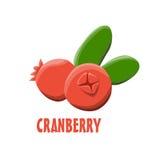 Logo Cranberry-landbouwbedrijfontwerp Stock Afbeeldingen