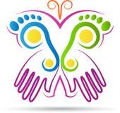 Logo creativo della farfalla Fotografia Stock