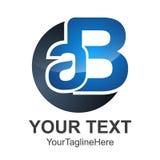 Logo creativo della lettera ab, modello astratto di progettazione di logo di affari, royalty illustrazione gratis
