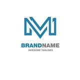 Logo creativo della lettera m. Fotografia Stock