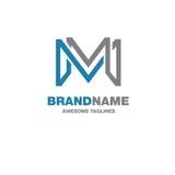 Logo creativo della lettera m. Immagine Stock
