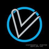 Logo creativo della lettera v di schema di campionamento royalty illustrazione gratis