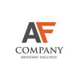 Logo creativo di AF della lettera illustrazione vettoriale