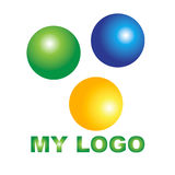 Logo creativo per la vostra società Fotografia Stock Libera da Diritti