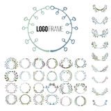 Logo creator circle. Set of vector elements for your badge. The unique shapes handmade Royalty Free Stock Images