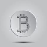 Logo cripto di vettore di Bitcoin di valuta, icona per il web, autoadesivo per la stampa Fotografie Stock Libere da Diritti