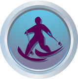Logo of Cross-Counrty skiing. One of symbols Olympic Games stock illustration