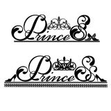 Logo with a crown princess and lettering Stock Image