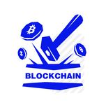 Logo of crypto currency, blockchain and mining. Image is isolated on white background. Corporate identity. Emblem, symbol, icon. Ready logo for print and web royalty free illustration