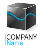 Logo cube Stock Images