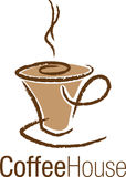Logo cup of coffee Stock Photography