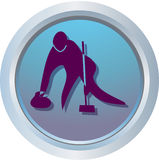 Logo of Curling. One of symbols of Olympic Games vector illustration