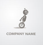 Logo with cute robot Stock Photography