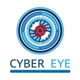 Logo cyber creativo dell'occhio Fotografia Stock