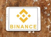 Logo d'échange de cryptocurrency de Binance image libre de droits